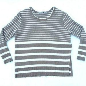 Athleta Kennewick Striped Side Slit Sweater Medium